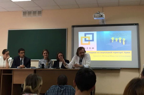 """NaUKMA Hosted Roundtable on """"Human Rights on the occupied Territory of Crimea"""""""