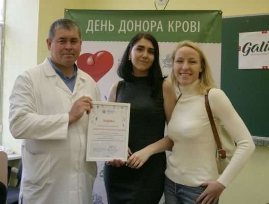 Blood Donor Day hosted by Kyiv-Mohyla School of Public Health and Student Organization
