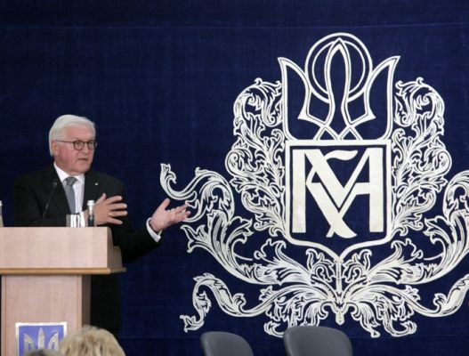 German president speaks at Kyiv-Mohyla Academy during his two-day visit to Ukraine